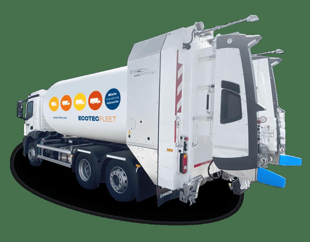 FAUN Zoeller Miete Müllfahrzeug Fuhrpark Fronlader Kehrmaschine Kommunalfahrzeuge